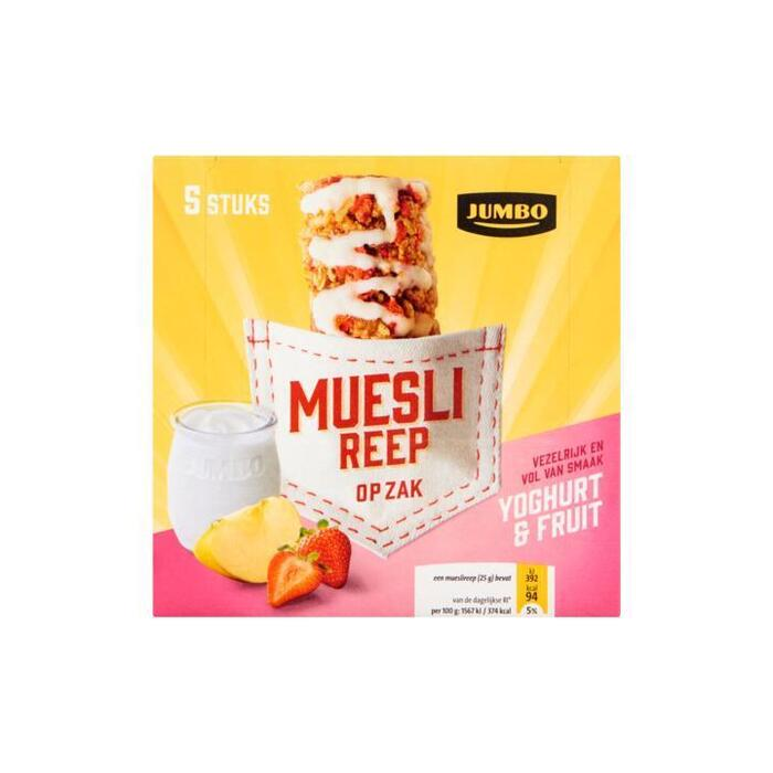 Jumbo Muesli Reep op Zak Yoghurt & Fruit 5 x 25g (5 × 25g)