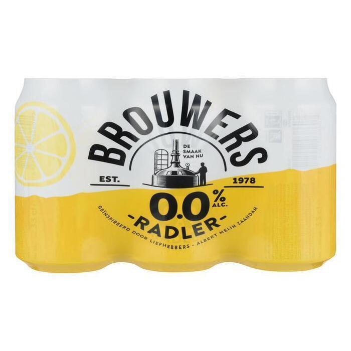 Brouwers Radler 0% blik (6 × 33cl)