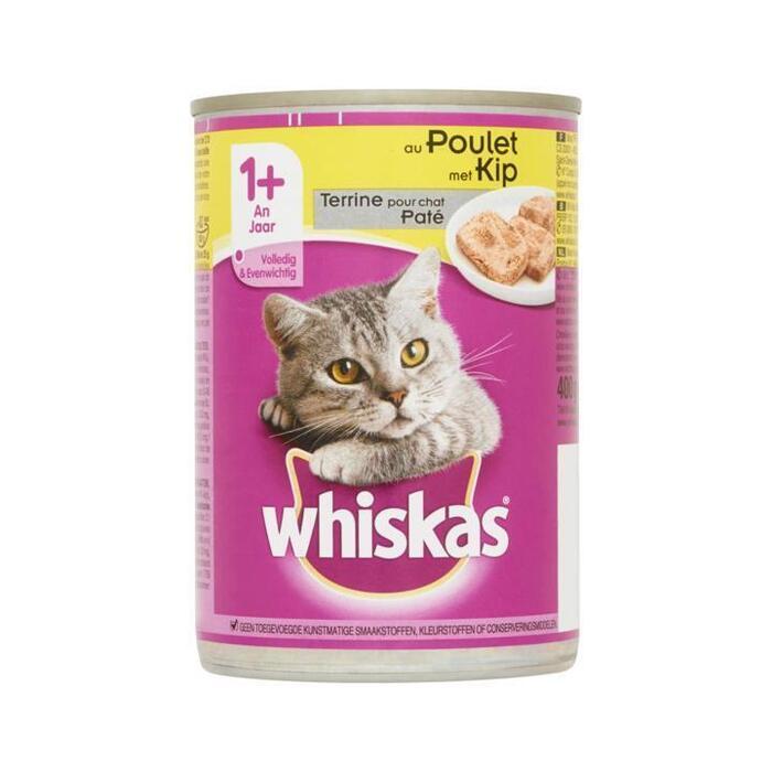 Whiskas Paté met Kip 1+ Jaar 400 g (400g)
