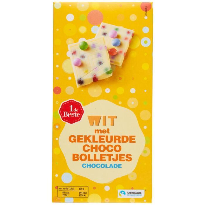 Chocoladereep wit regenboogchocolade (100g)