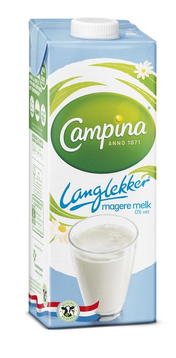 Campina Langlekker Melk Magere 0% Vet 1 l Pak met punt (1L)