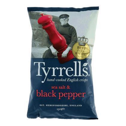 Tyrrells Sea salt & black pepper (150g)