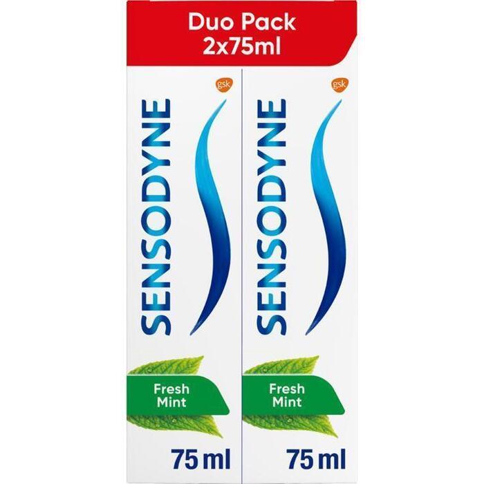 Sensodyne Fresh Mint Dagelijkse Tandpasta voor Gevoelige Tanden Duo Pack 2 x 75 ml (150ml)