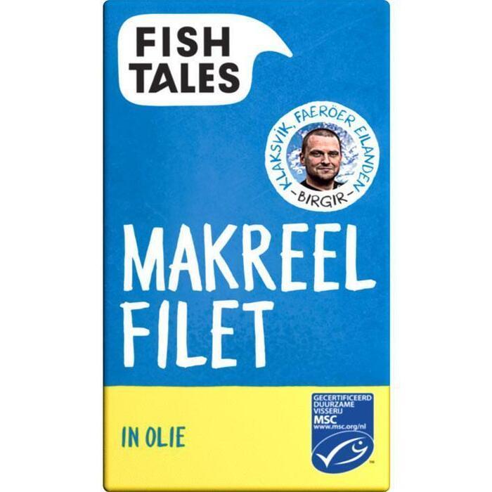 Fish Tales Makreelfilet in olie msc (125g)