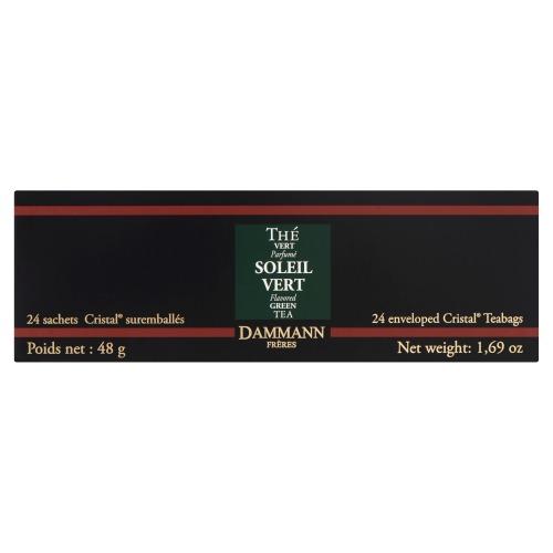 Dammann Soleil Vert Flavored Green Tea 24 Theezakjes 48 GRM Doos (24 × 48g)