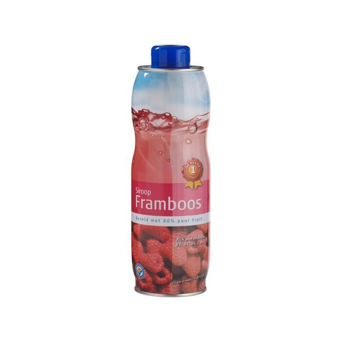 Limonadesiroop framboos (0.75L)