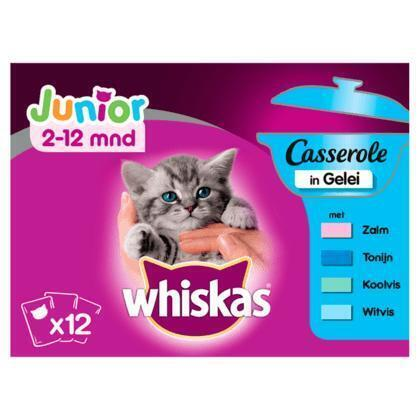 Whiskas Casserole junior vis selectie in gelei (1.02kg)