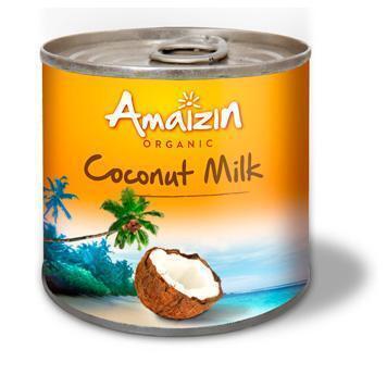 Biologische kokosnootmelk (blik, 200ml)