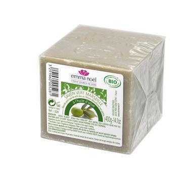 Groene Marseille-zeep (met olijfolie) (400g)