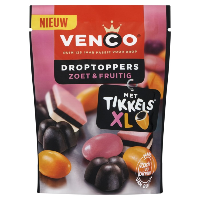 Venco Drop toppers fruitig zoet (287g)