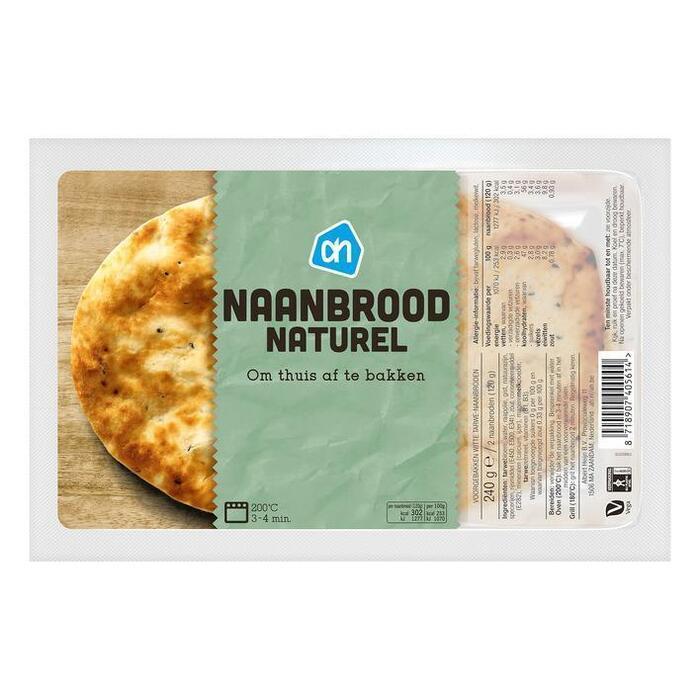 AH Naanbrood naturel (240g)