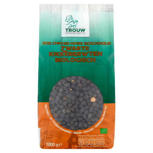 Trouw Zwarte Kikkererwten Biologisch 1000 g (1kg)