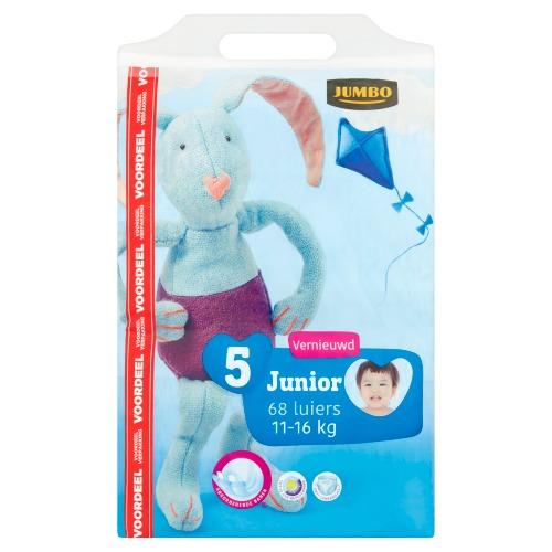 Jumbo Luiers 5 Junior 11-16 kg Voordeelverpakking 68 Stuks