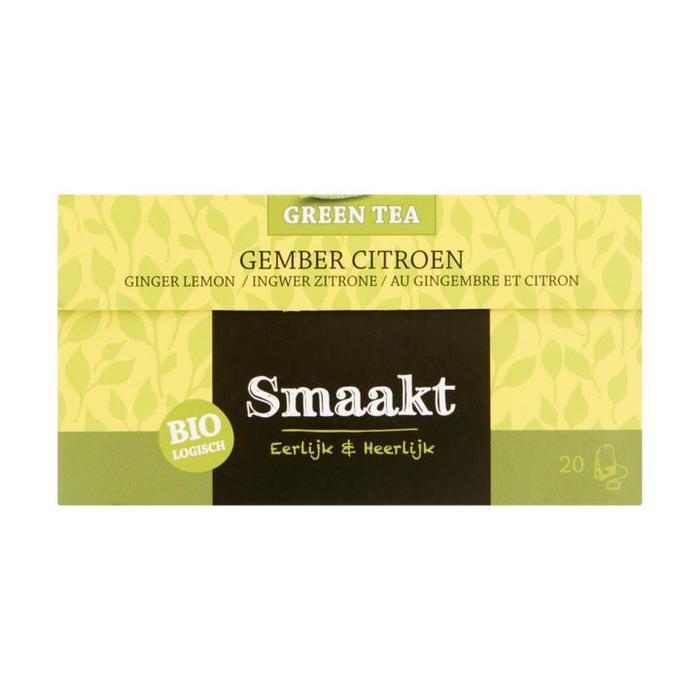Smaakt Biologisch Green Tea Ginger Lemon 20 x 1,5 g (Stuk, 20 × 1.5g)