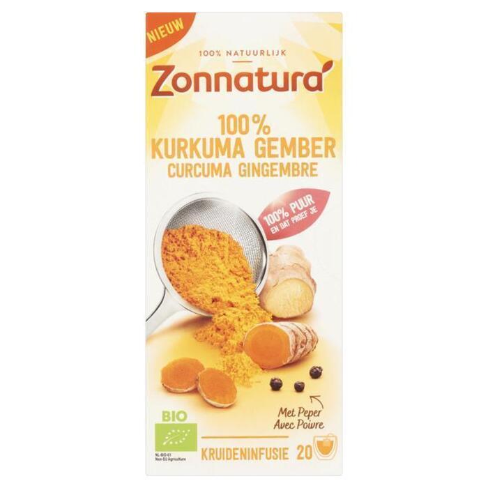 Zonnatura Kurkuma thee (zakjes, 36g)