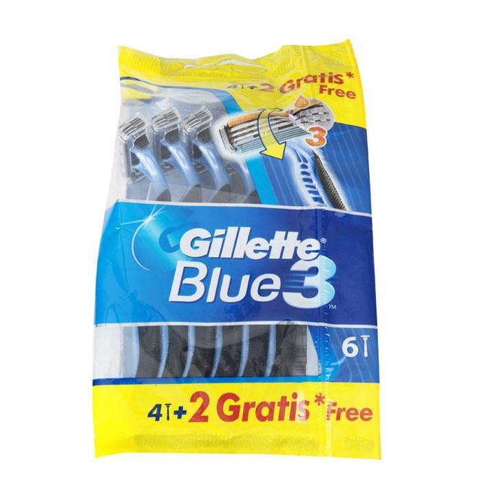 Gillette Blue3 Wegwerpscheermesjes Voor Mannen - Pak Van 4+2