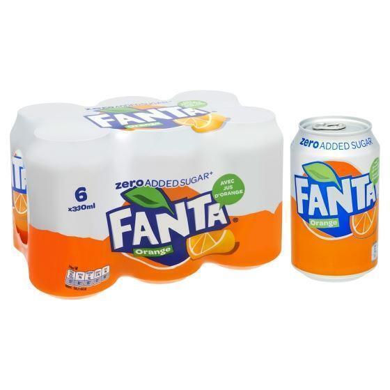 Fanta Orange zero (rol, 6 × 33cl)