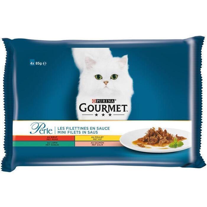 Gourmet Perle mini filets in saus o.a. met kip (4 × 85g)