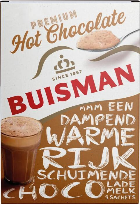 Buisman Premium Hot Chocolate Portieverpakking UTZ 8x22g (200g)