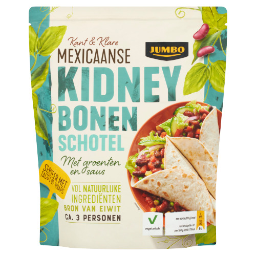 Jumbo Kant & Klare Mexicaanse Kidney Bonenschotel 500 g (500g)