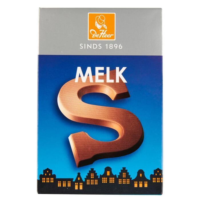 De heer chocolade letter s melk (135g)