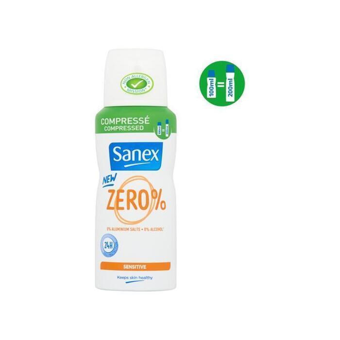 Sanex Zero% Gevoelige Huid Compressed Deodorant Spray 100ml (100ml)