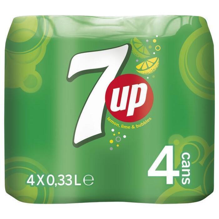 7Up Blik 4 x 33cl (rol, 4 × 33cl)