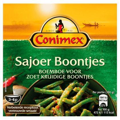 Conimex Boemboe sajoer boontjes (kuipje, 95g)