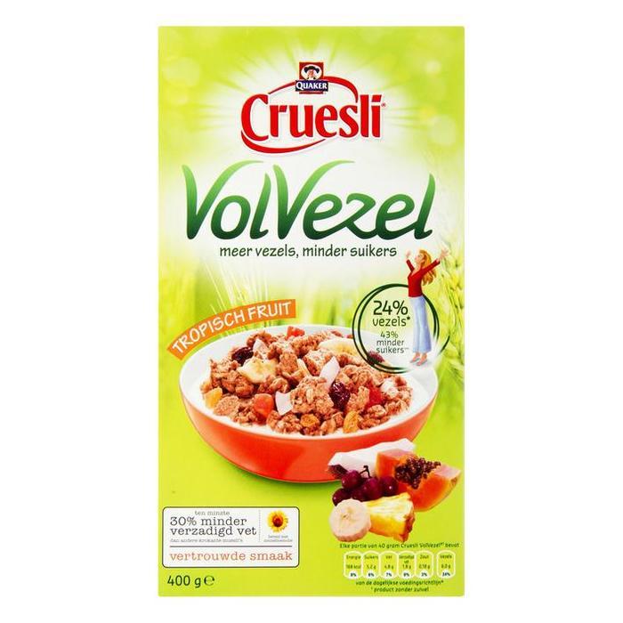 Cruesli volvezel tropisch fruit (400g)