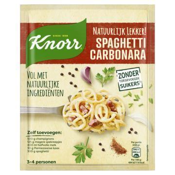 Knorr Natuurlijke mix spaghetti carbonara (42g)
