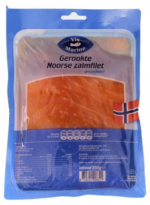 Gerookte Noorse zalmfilet (200g)