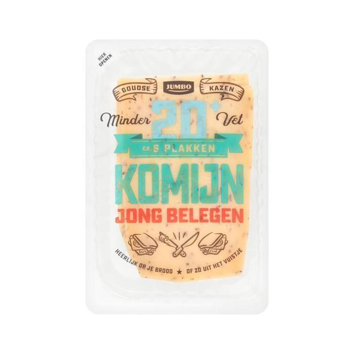 Jumbo Jong Belegen Komijn Kaas 20+ Plakken 190g (190g)