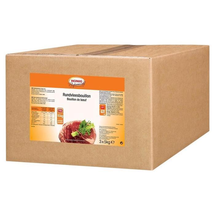 Honig Professional Rundvleesbouillon 3 x 5 kg Doos (3 × 5kg)