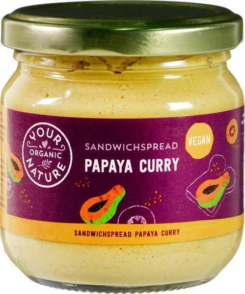 Sandwichspread papaya-curry (180g)
