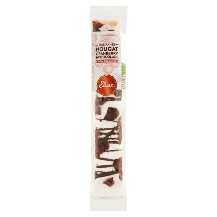 Elvee Biologische Italiaanse Nougat Cranberry & Chocolade 80g (80g)