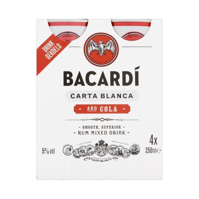Bacardi & Cola 4 pack (4 × 250ml)