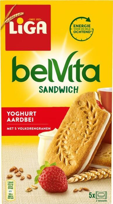 BelVita Breakfast Sandwich (doos, 5 × 43.7g)