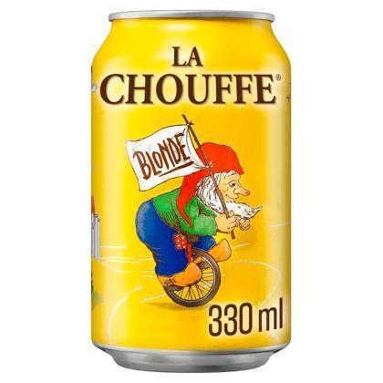 La Chouffe 33cl blik (rol, 4 × 33cl)