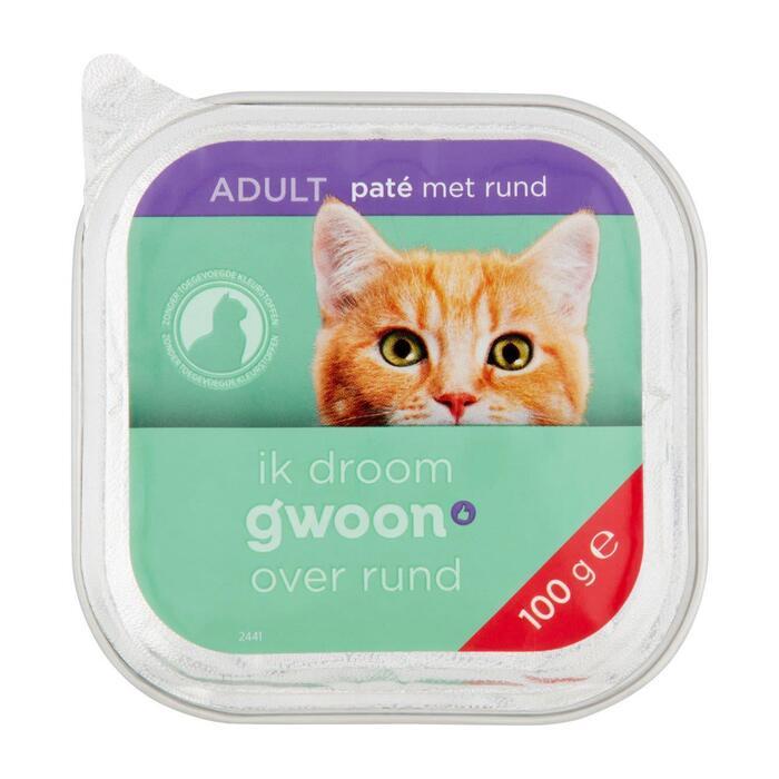 g'woon Pate kat met rund (100g)