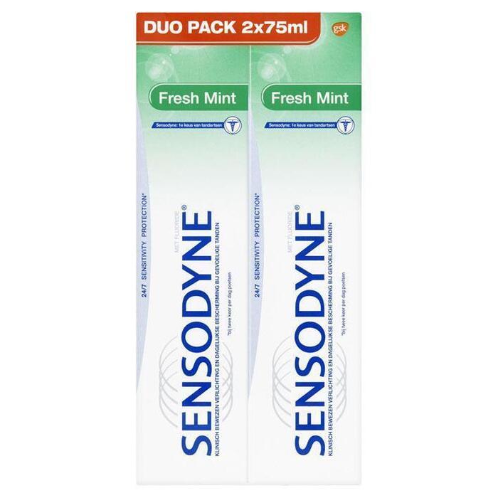Sensodyne Fresh Mint Dagelijkse Tandpasta voor Gevoelige Tanden Duo Pack 2 x 75 ml (2 × 150ml)