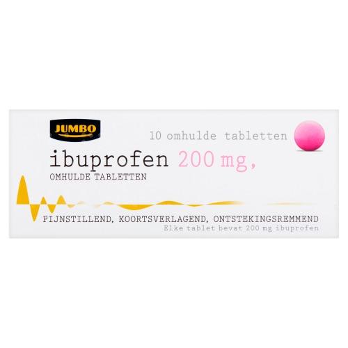 Jumbo Ibuprofen Omhulde Tabletten 200 mg 10 Stuks