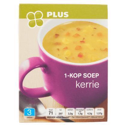 1-Kop soep kerrie (doos, 33g)
