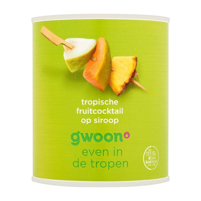 g'woon Tropische fruitcocktail (825g)