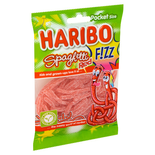 Haribo Spaghetti Red F!ZZ Pocket Size 70 g (70g)