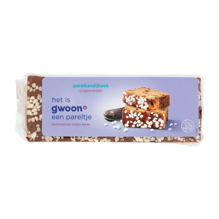 g'woon Ontbijtkoek parelkandij ongesneden (450g)