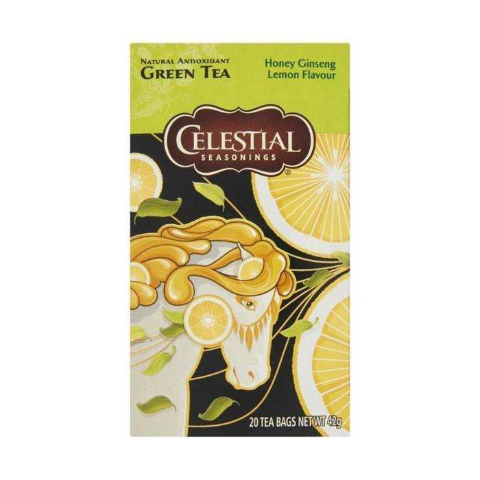 Celestial Seasonings Honey Giseng Lemon Flavour Green Tea 20 Stuks 42g (20 × 42g)