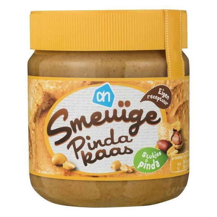 Smeuiige pindakaas, stukjes pinda (pot, 350g)