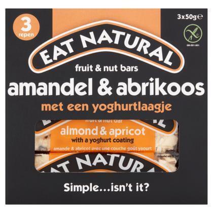 Eat Natural, Amandel & Abrikoos (Stuk, 3 × 150g)