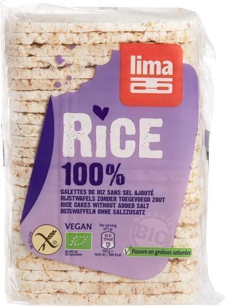 Rijstwafels dun zonder zout (130g)