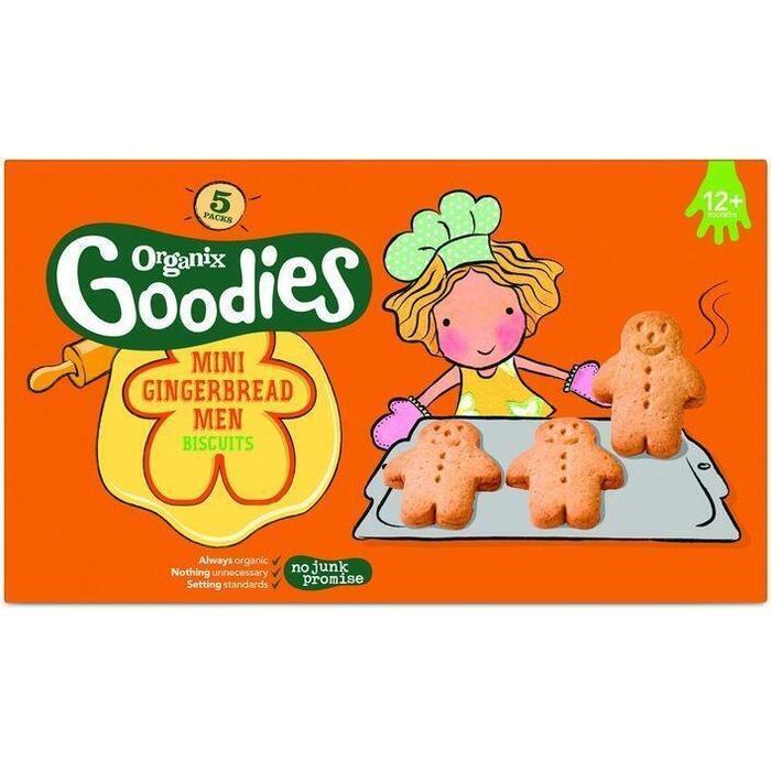 Organix Goodies Mini Koeke Mannetjes 5 x 25 g (Stuk, 5 × 125g)